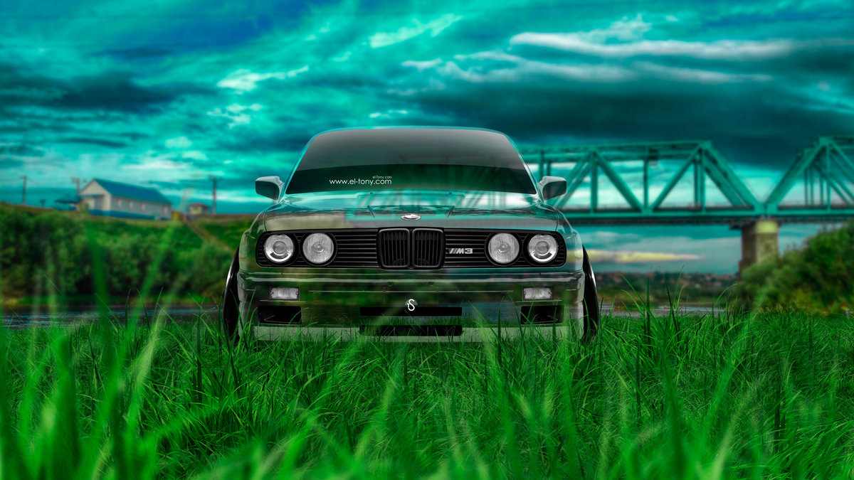 Beautiful BMW M3 E30 Front Crystal Nature Car 2016