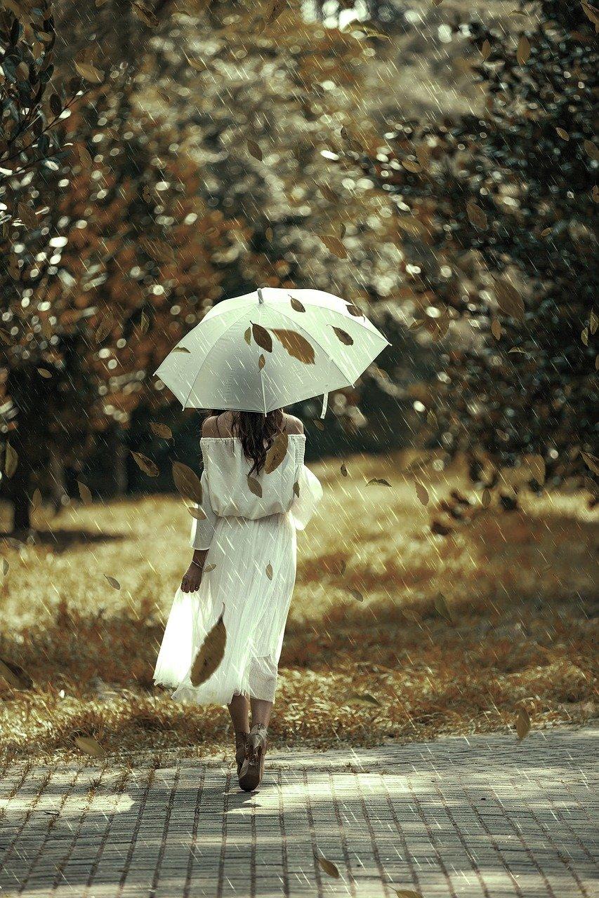 Осень женщина с зонтом картинки