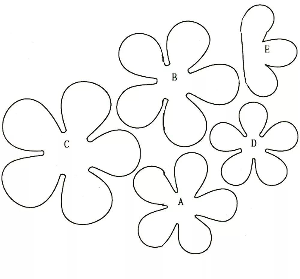 Анимашки, цветы из бумаги для открытки своими руками с шаблонами