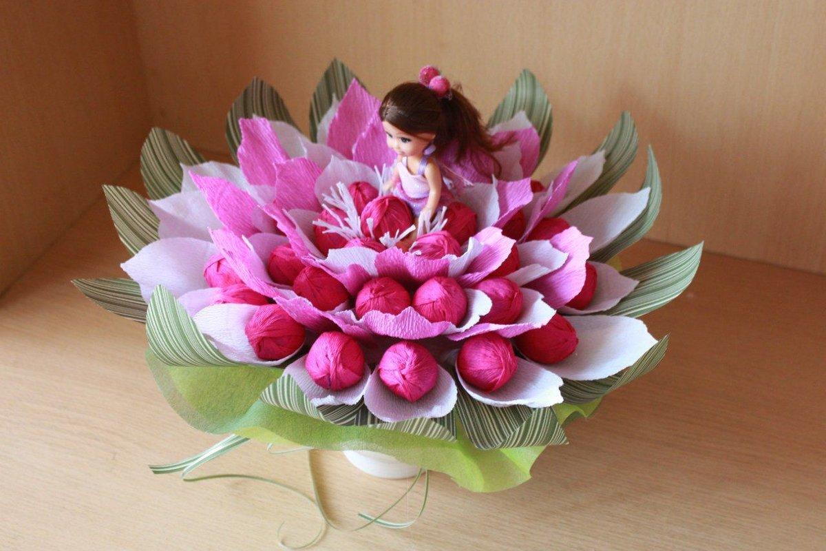 Детский букеты из конфет своими руками, цветов питеру недорого