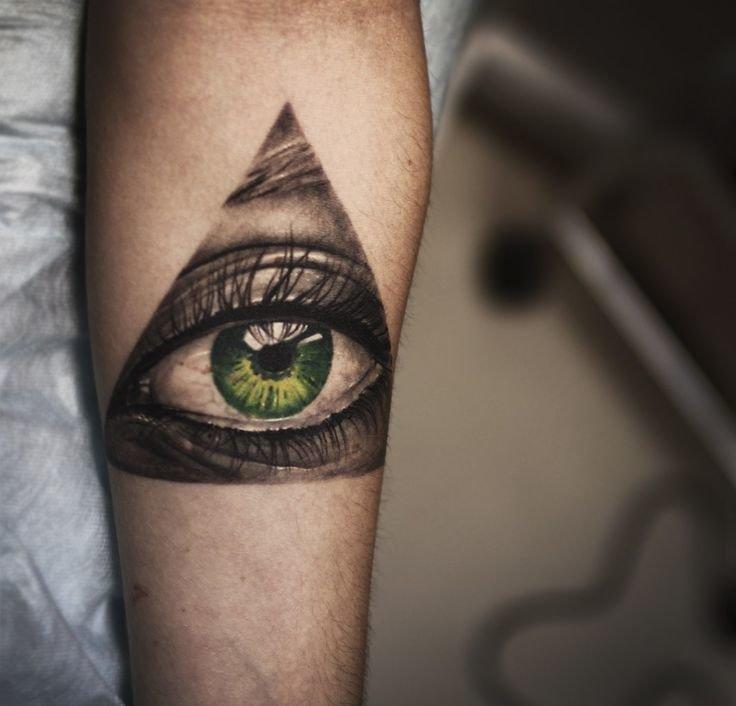 Глаз в треугольнике тату картинки
