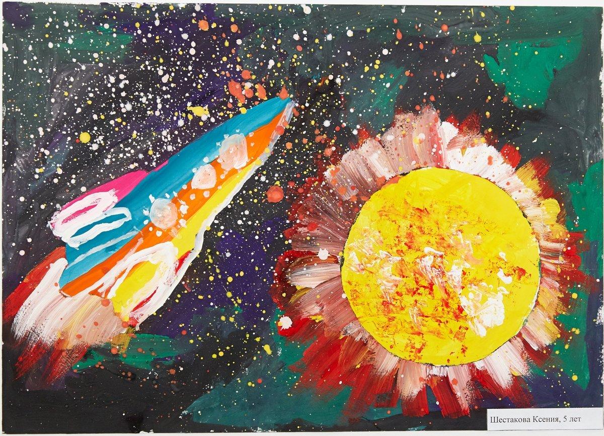 Пение птиц, картинки гуашью космос