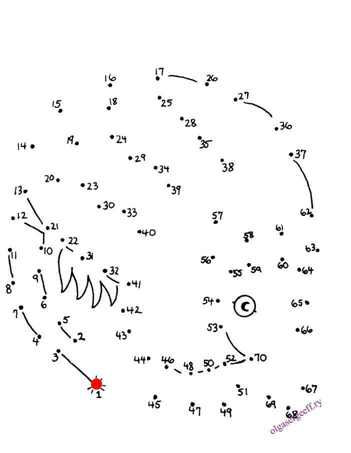 Картинка соединяющие по точкам