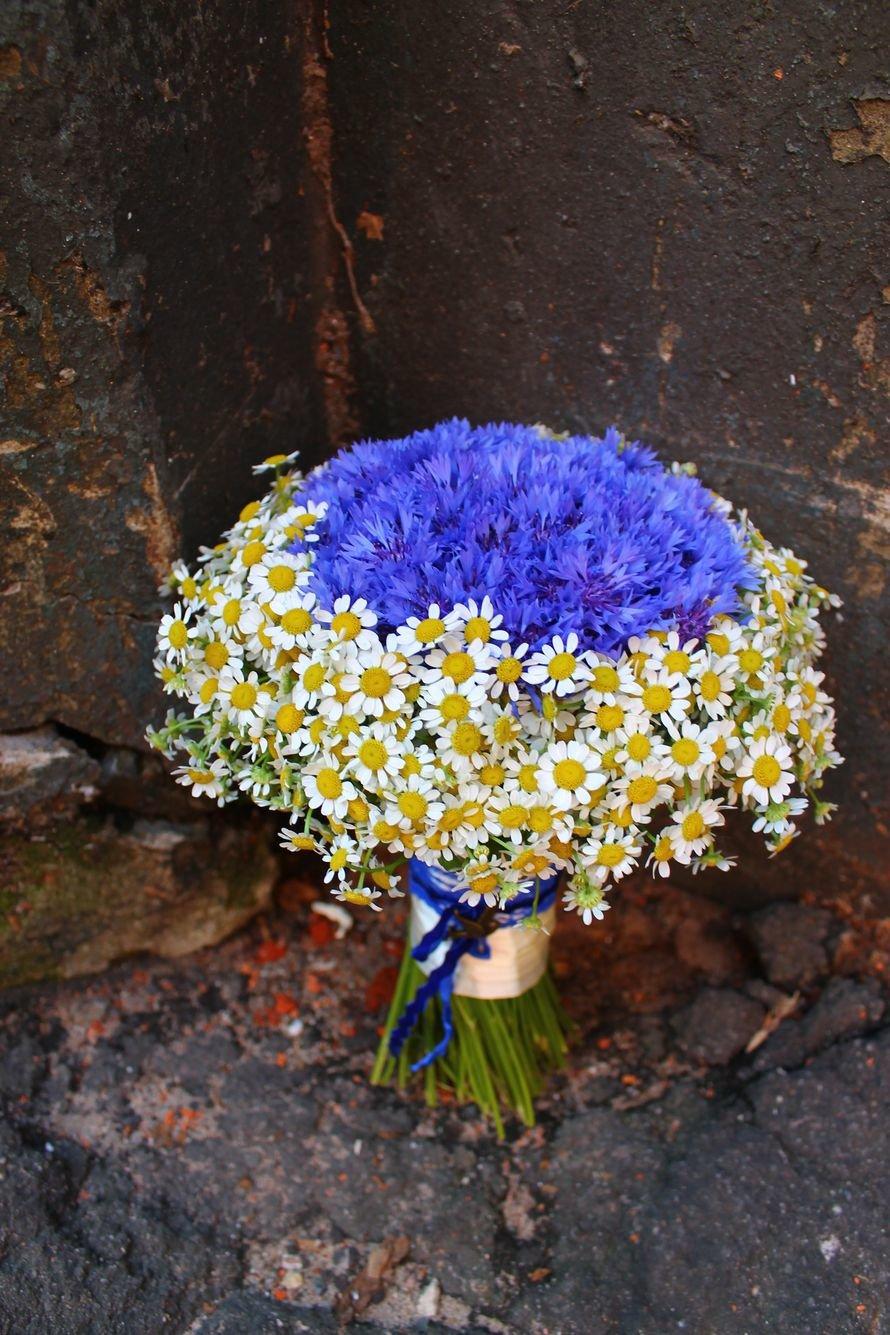 Букеты невесты ромашки васильками, роза сургут дешево