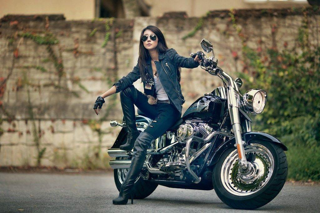 байкер мотоцикл фотосессия собака