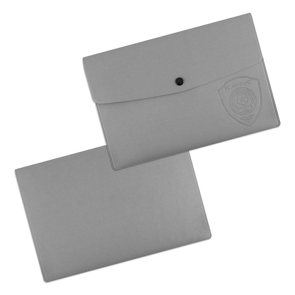 Кожаная папка-конверт с тиснением логотипа