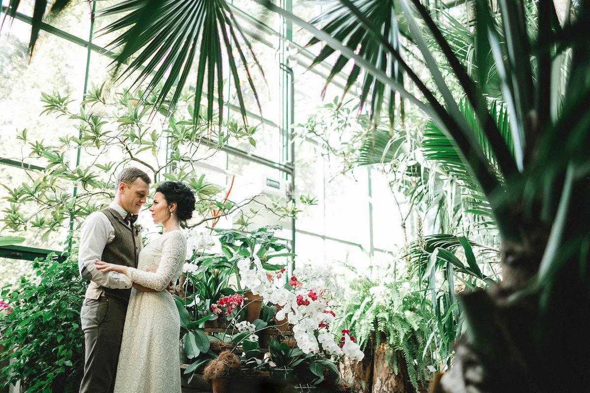 ботанический сад фото молодоженов одиноких пенсионеров может