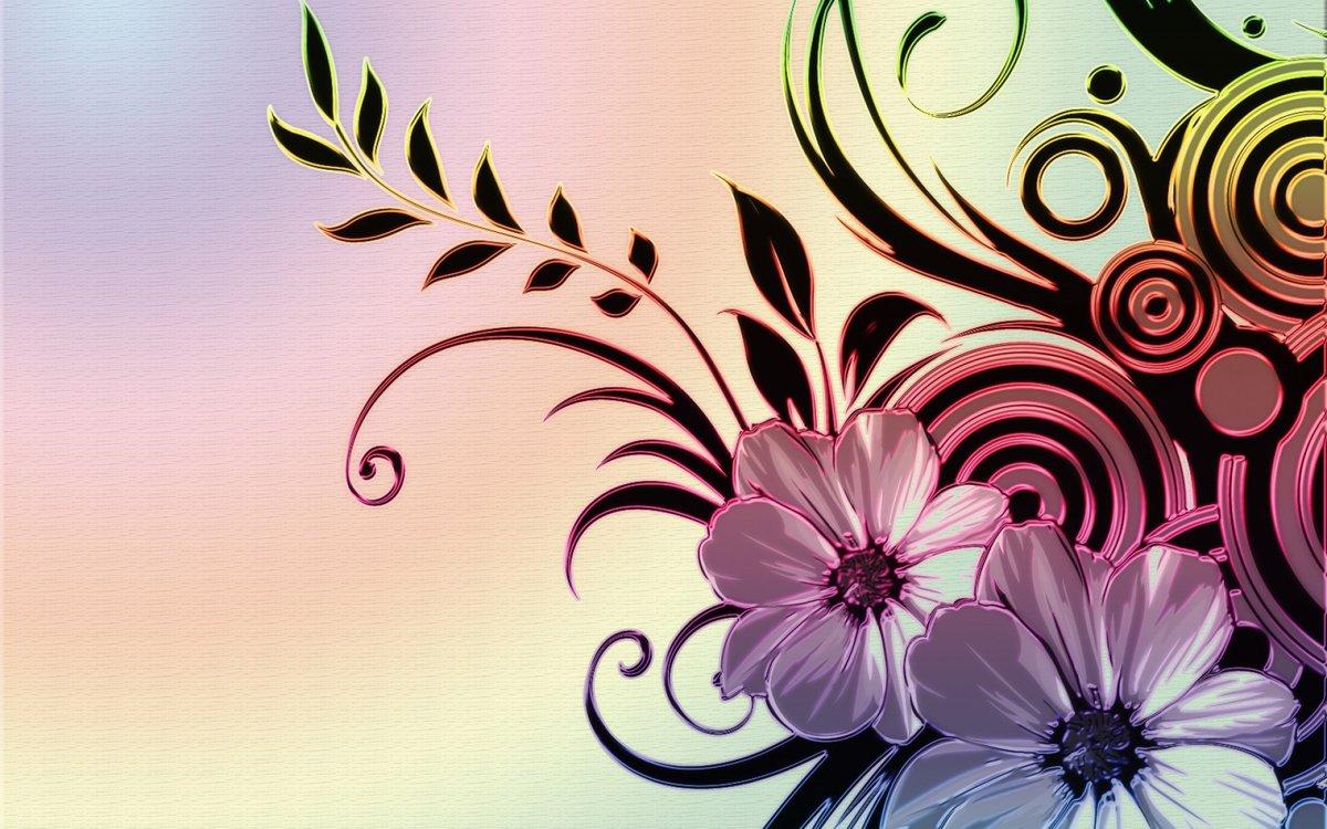 Обои на телефон цветы абстракция на айфон
