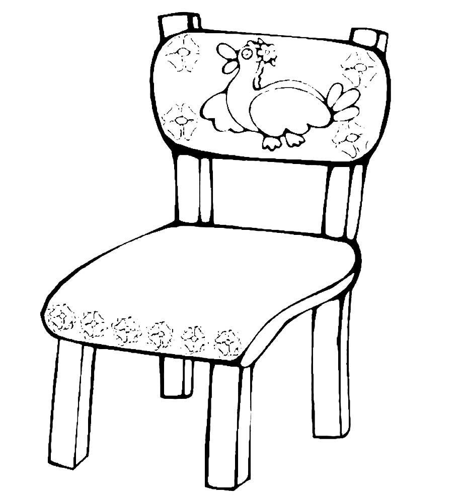 Картинка мебель раскраска