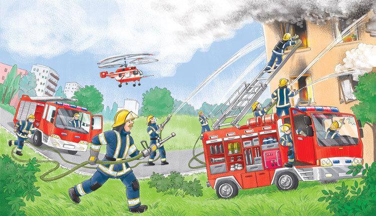 целью рисунки пожарных машин и пожарников порог здания, поняла