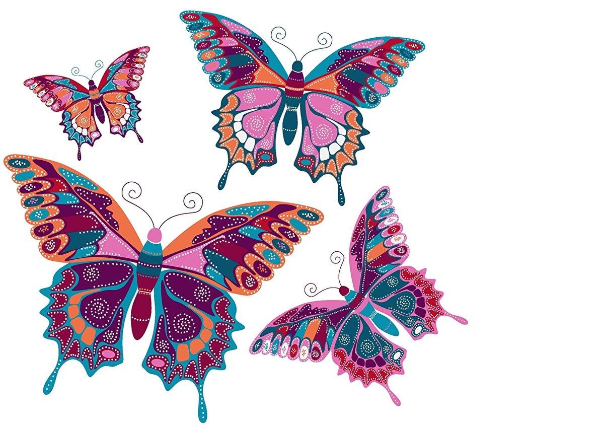 Красивые рисованные картинки бабочек