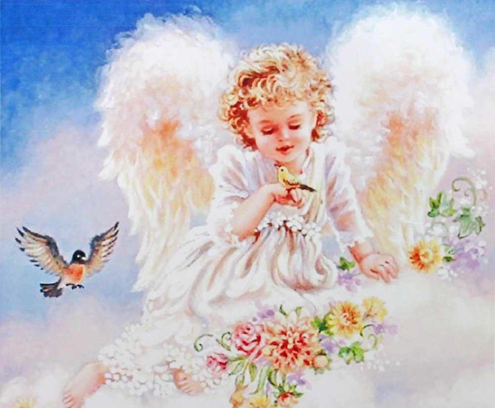 Ольги, открытка ангел девочка ад