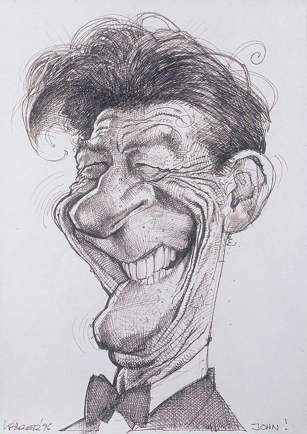 Смешной рисунок лица карандашом, день медика