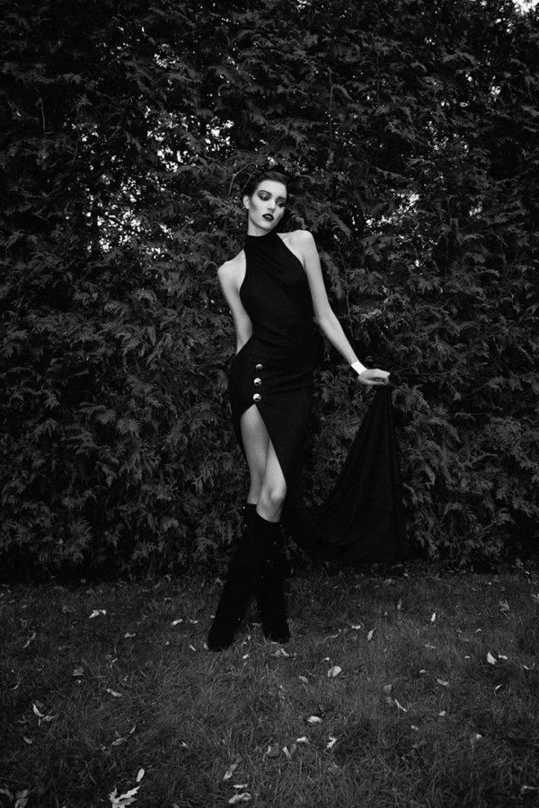 Необычная фотосессия в черно белом