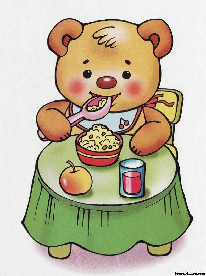 Цветные картинки с детьми кушающими кашу