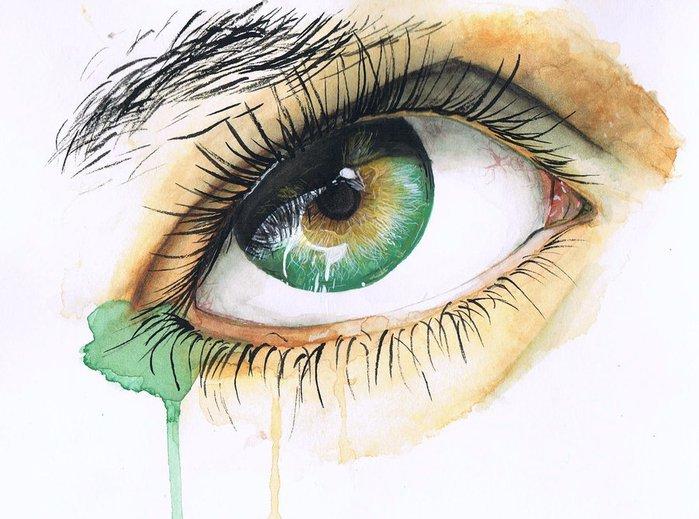 Зеленые глаза картинки карандашом