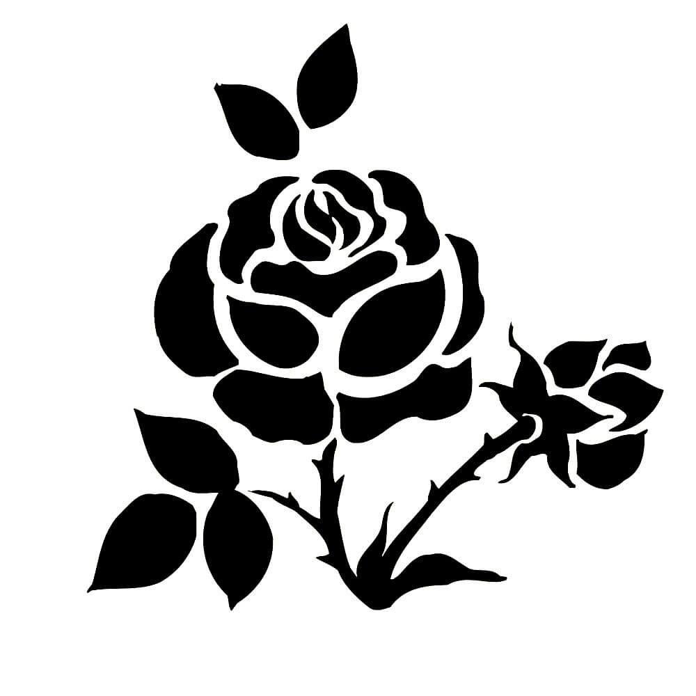 Нового, трафарет роза для вырезания из бумаги шаблоны