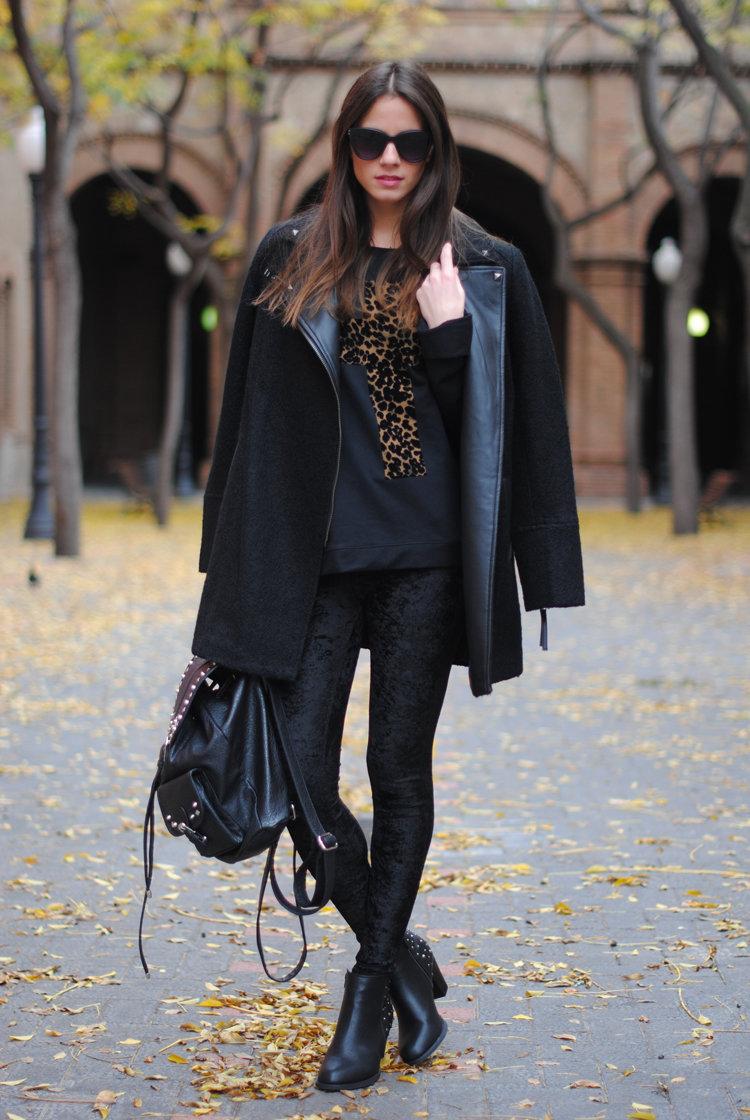 слишком стильные образы с черным пальто фото таких
