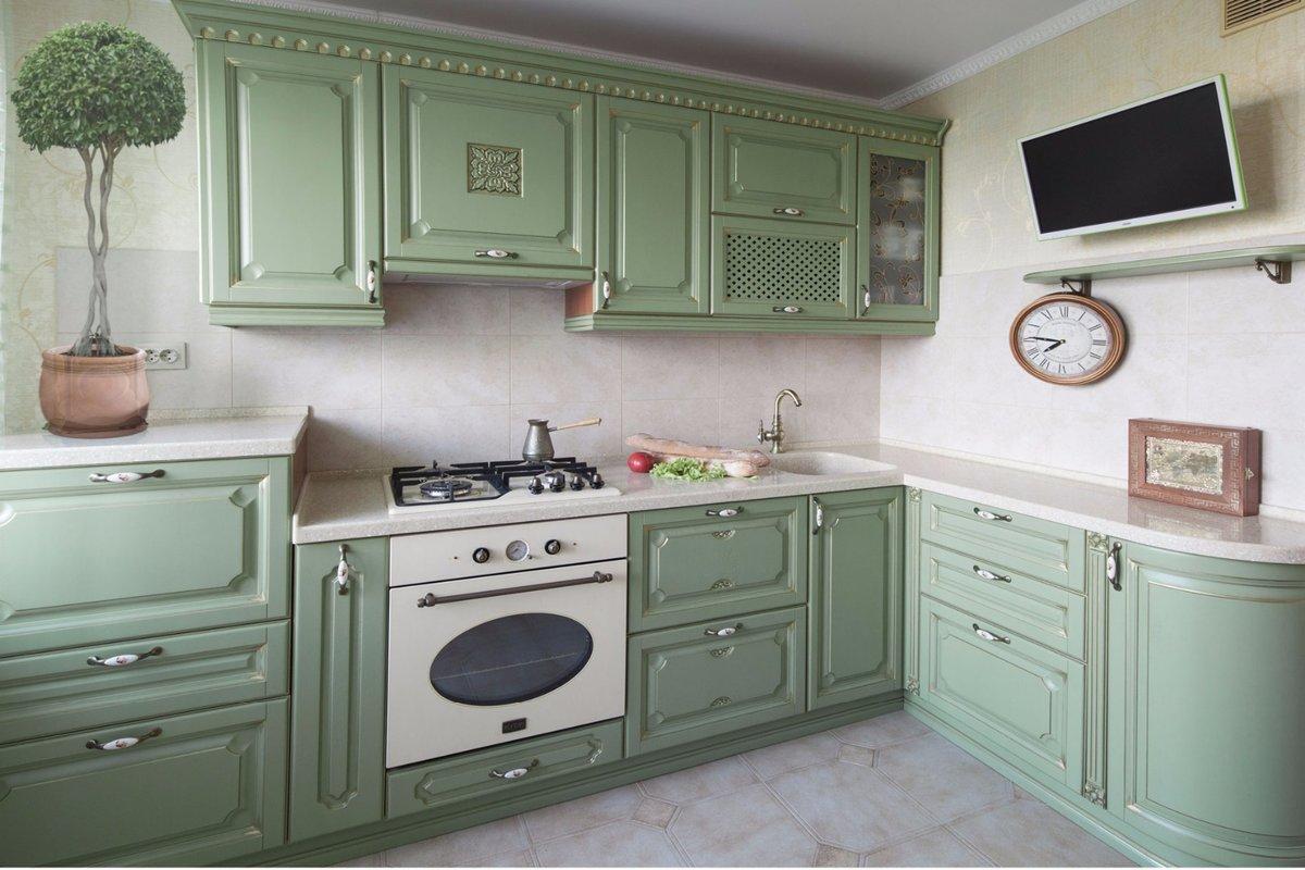 было белая кухня с зеленой патиной картинки менее
