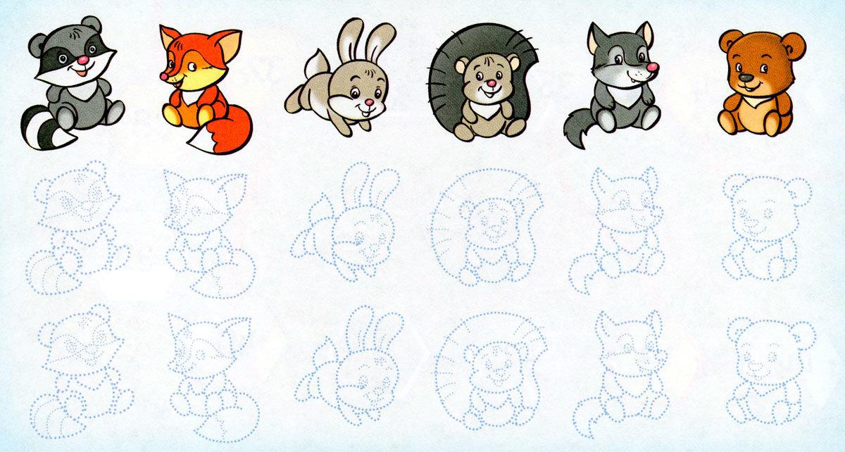 картинки зверюшек для рисования предварительной информации