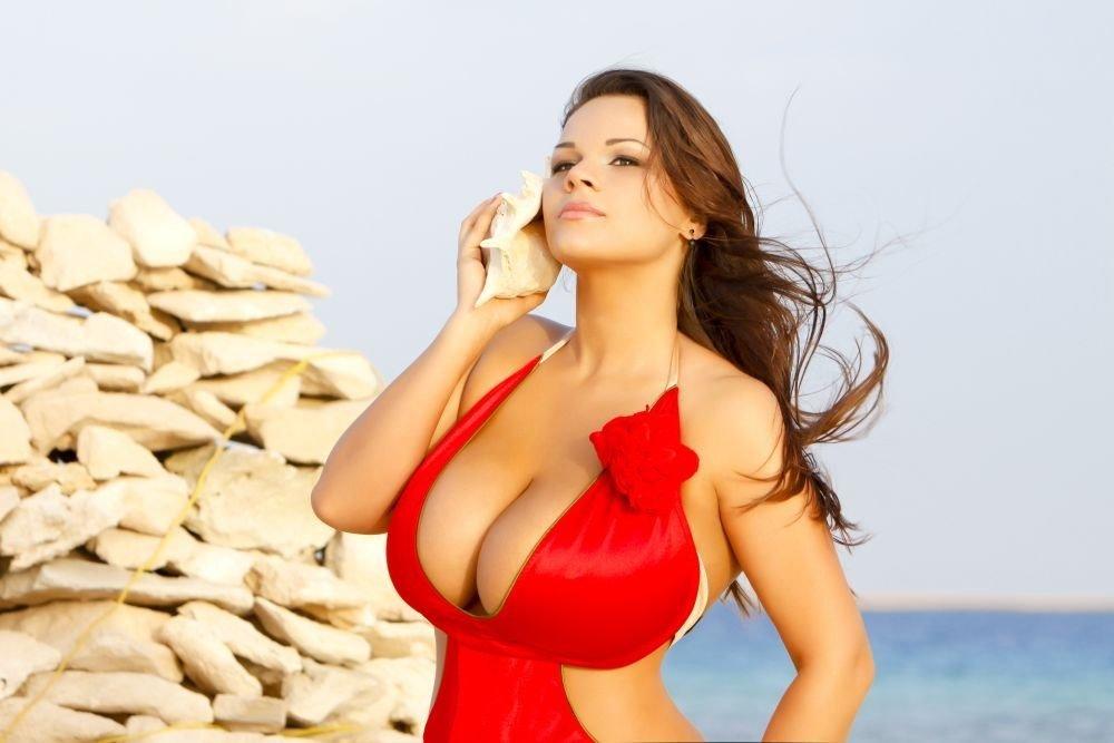 Большая грудь российских женщин, мастурбация страстная кончает
