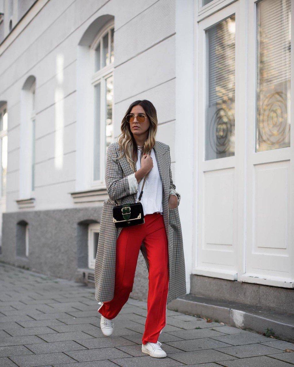 С чем носить серое пальто: 20 стильных образов