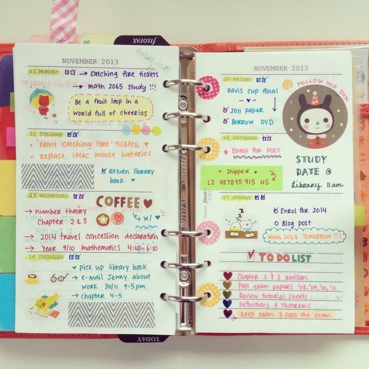 Надписями, картинки заполнить ежедневник