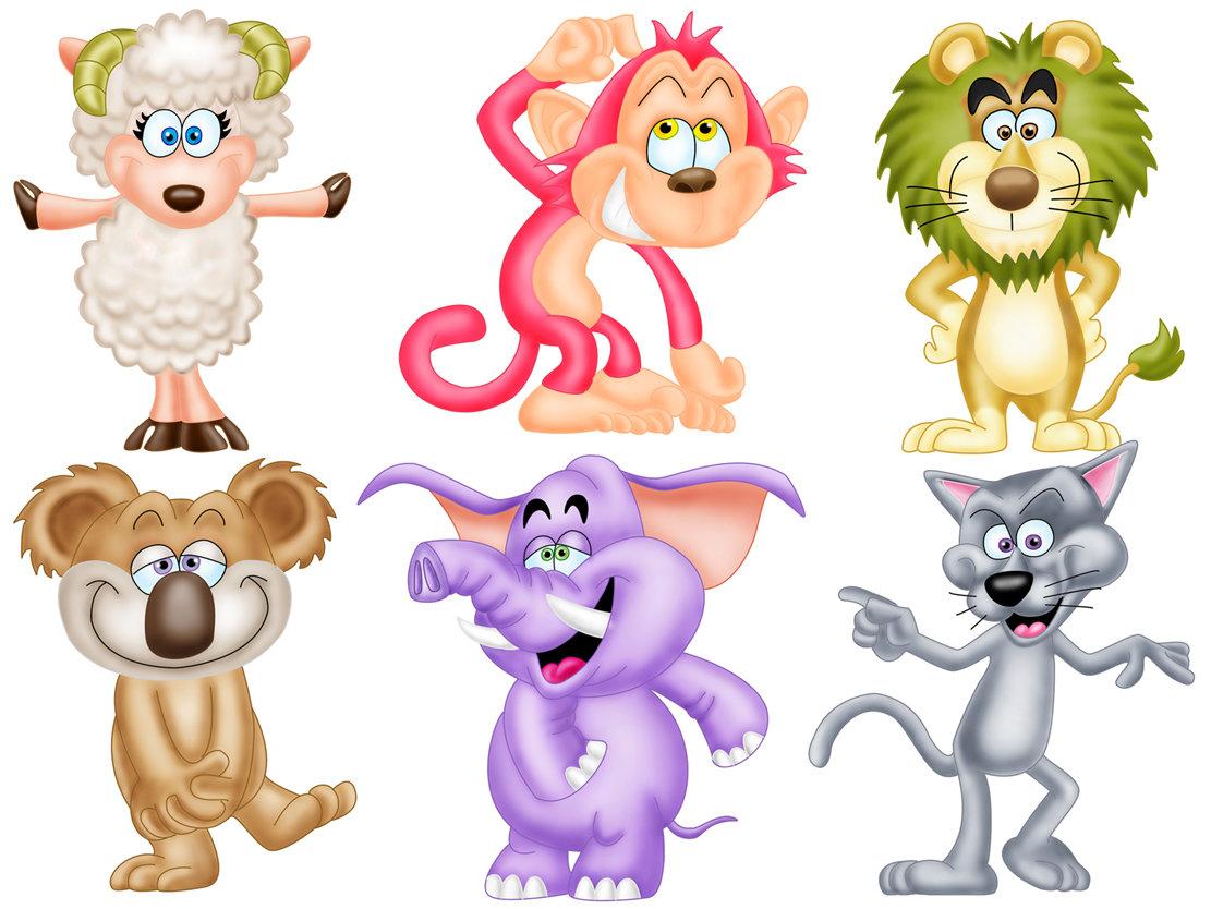 Нарисованные смешные животные картинки с названиями