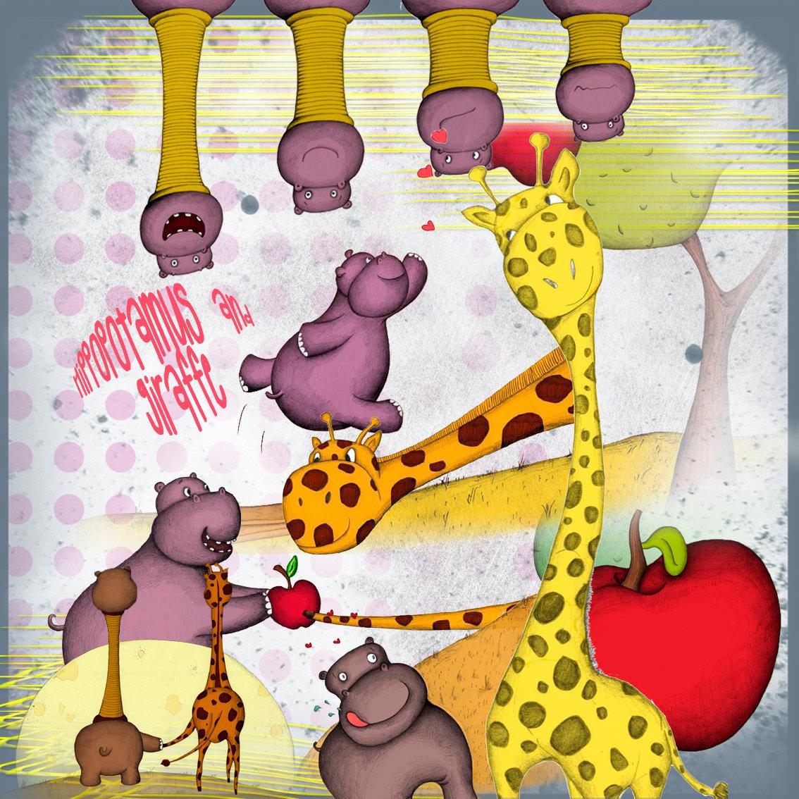 Немецком языке, с днем рождения картинка с жирафом и бегимотом
