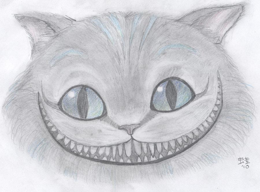 рисунки чеширский кот простым фото