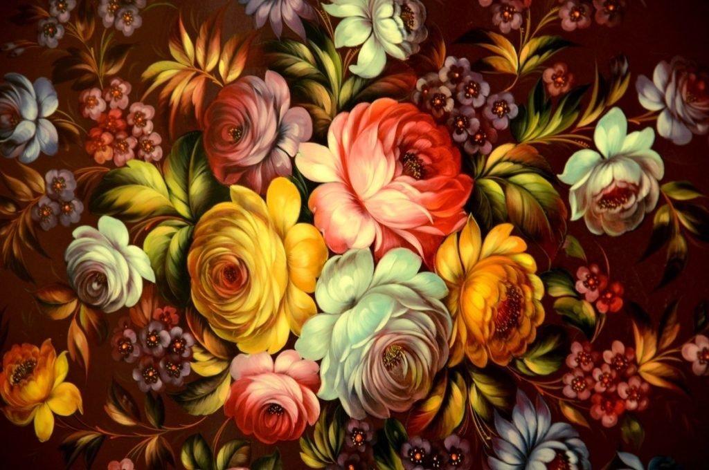 Цветочная роспись в картинках