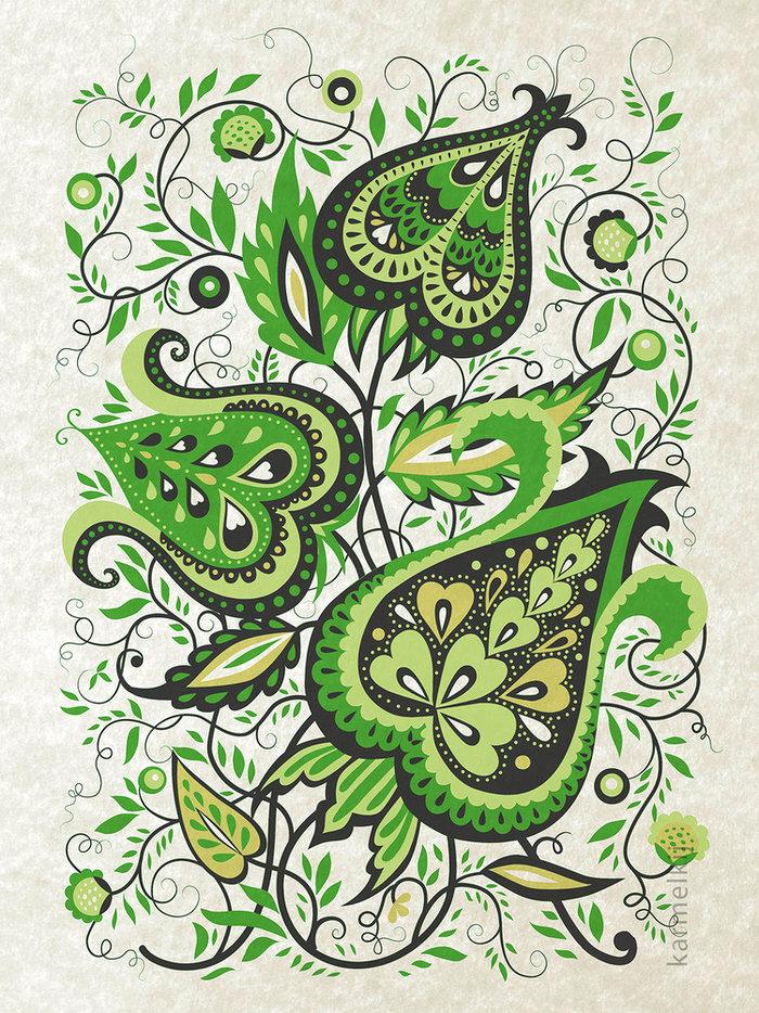 Рисунки с растительным узором