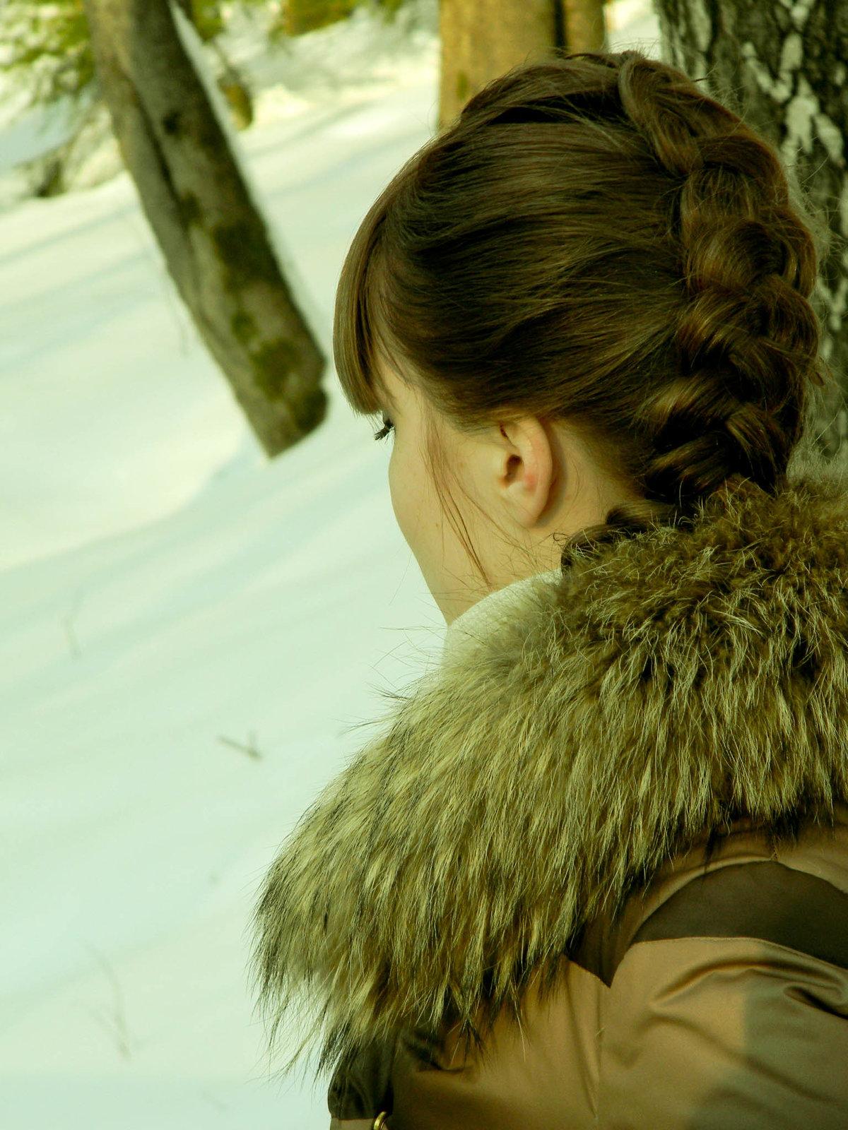 Девушка в альпах с косой, любительское порно видео с частных архивов
