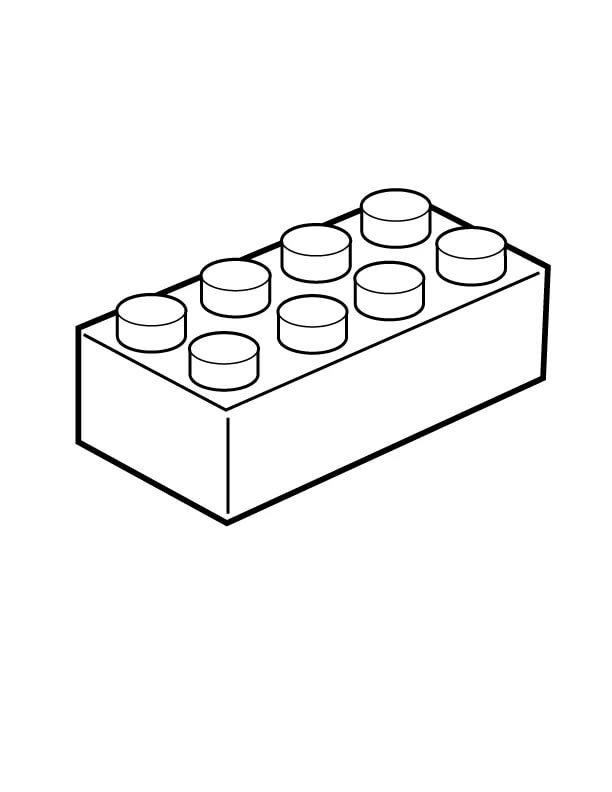lego bricks coloring page - 612×792