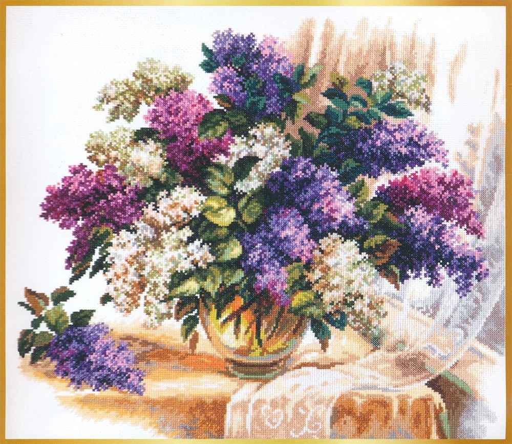 Цветы, букет сиреневый чудная игла