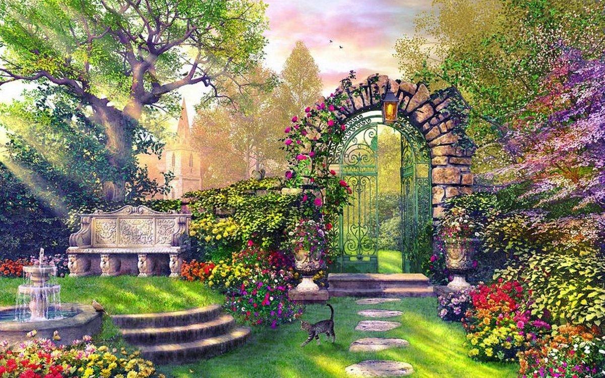Обои на рабочий стол райский сад