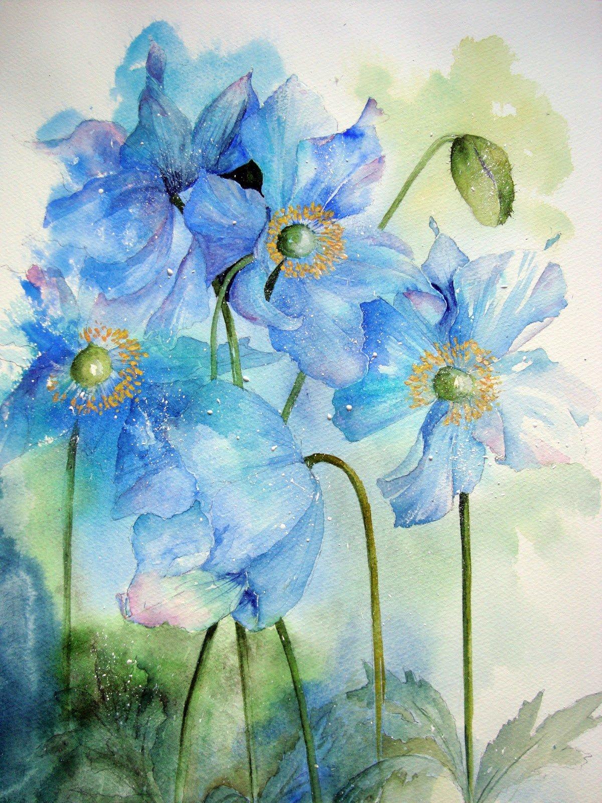 Сердечко для, акварельные картинки цветы