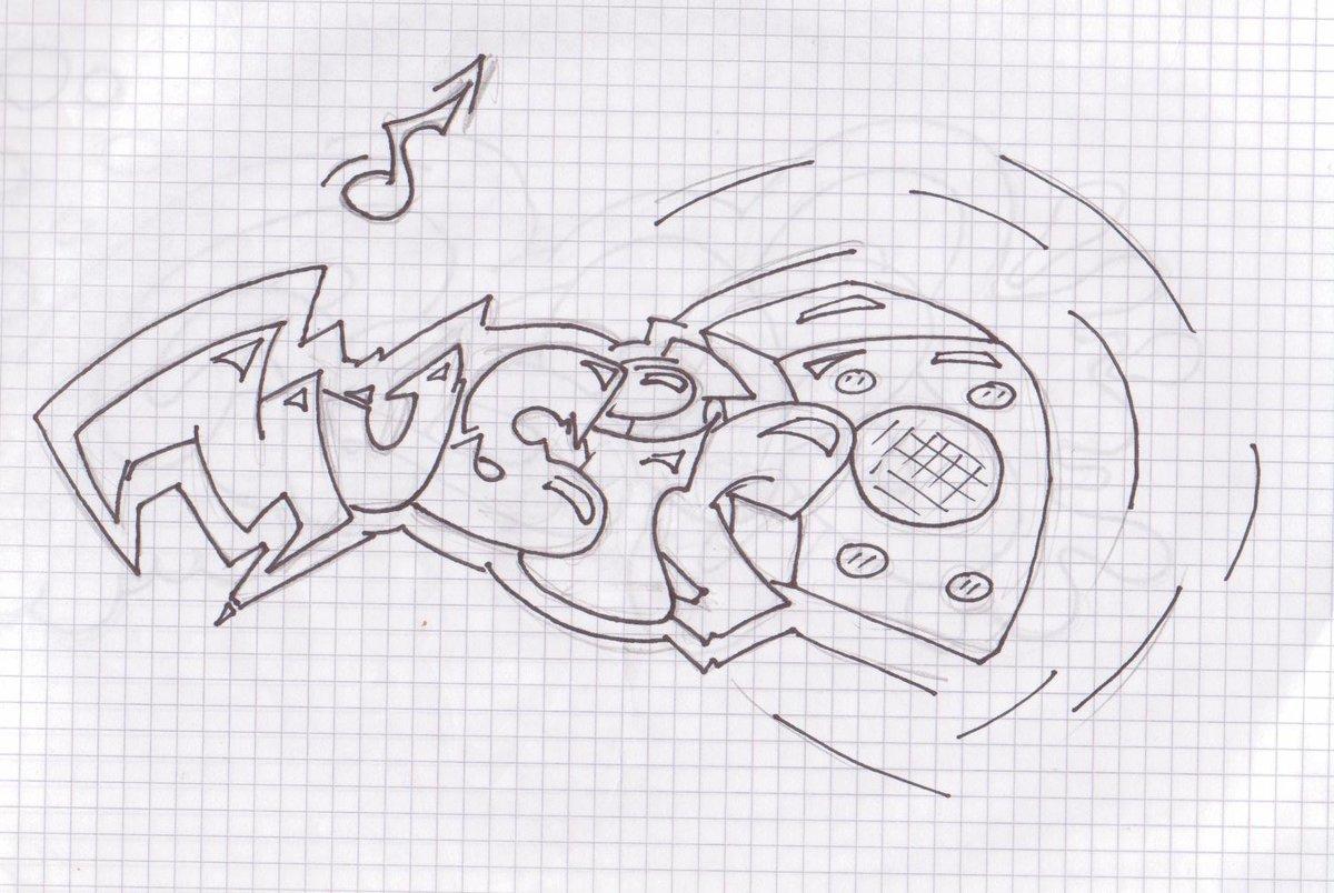 Прикольные граффити рисунки карандашом