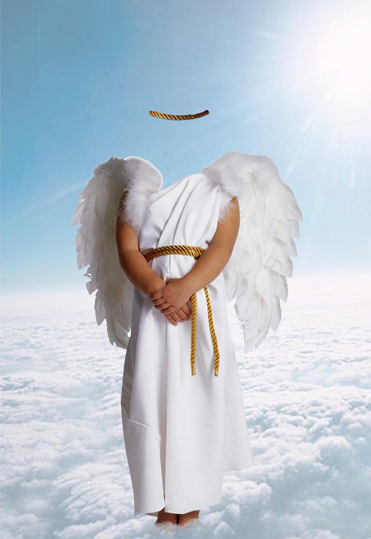 Вставить фото в лицо ангела для мужчины