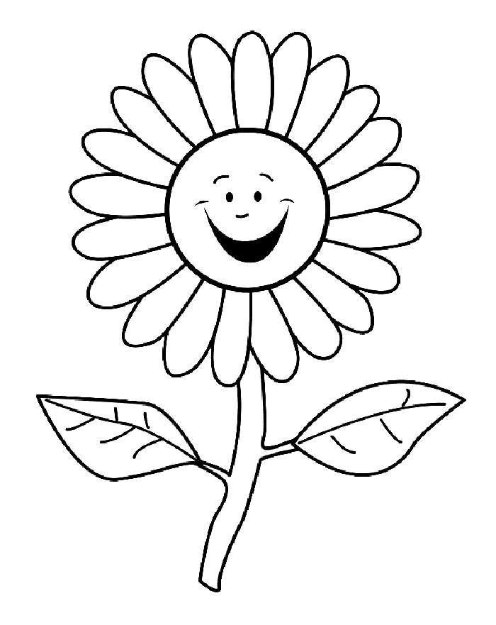 Возвращением смешные, рисунок ромашки для раскрашивания