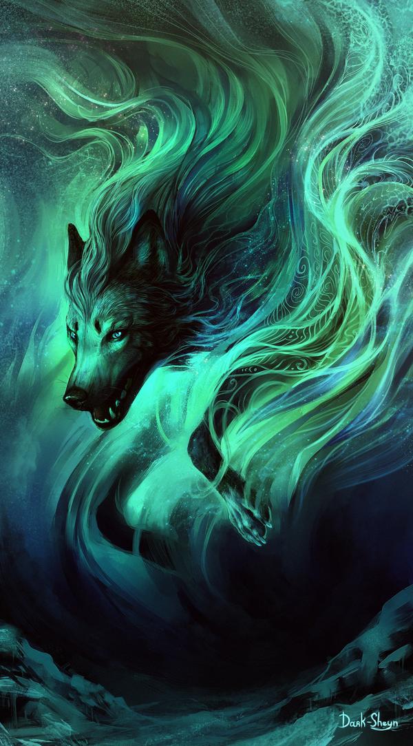 мистические арты волков сумок для камер
