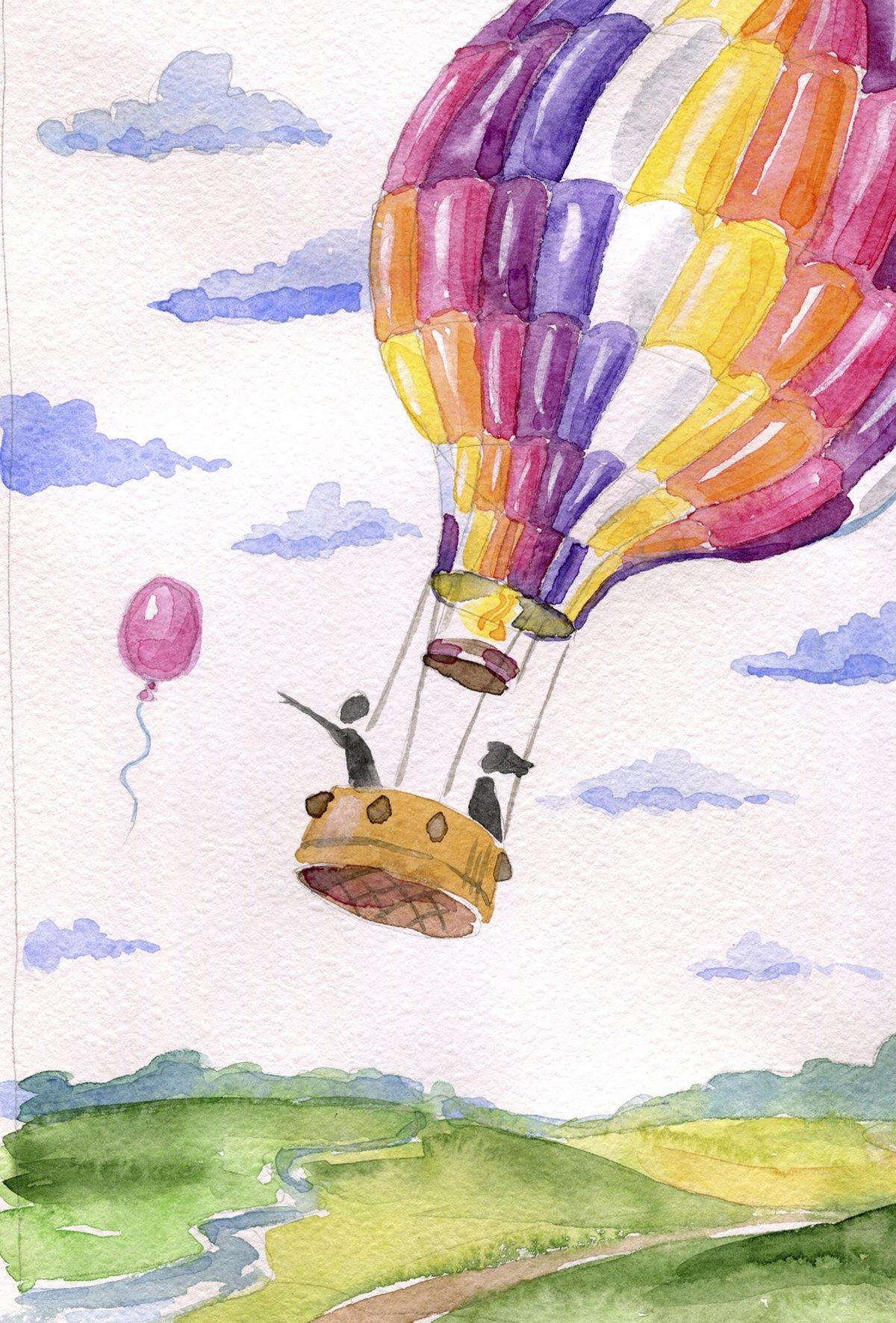 Воздушный шар рисунки картинки