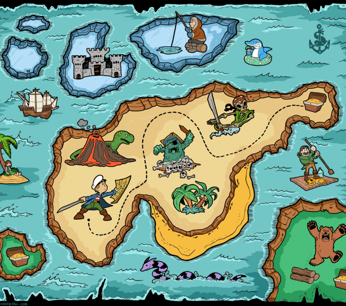 карта острова сокровищ картинки настраиваемых