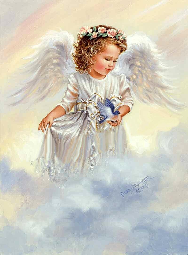 Ангелы открытка, про отдых