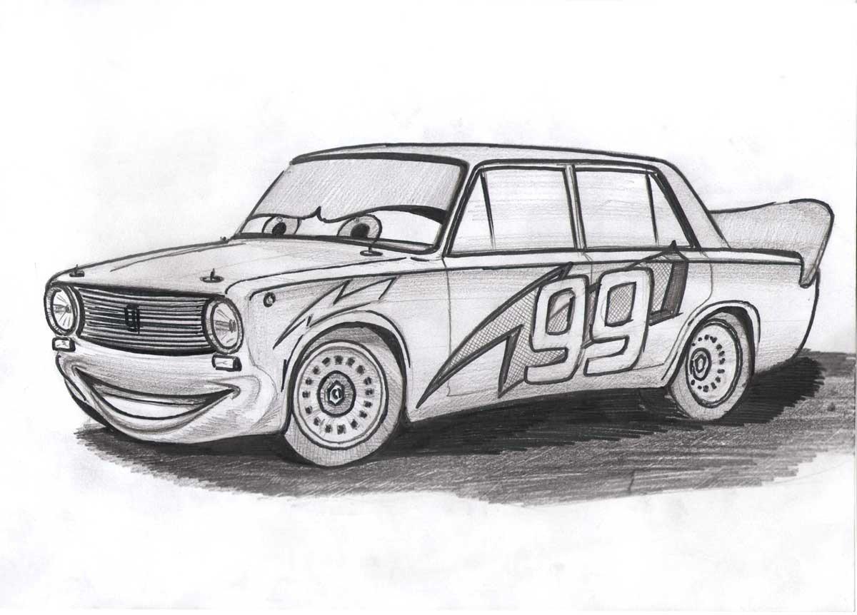 Срисовать картинки машины