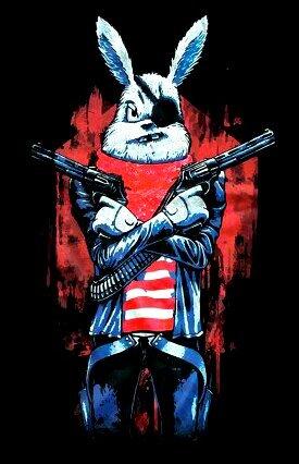 картинка злой заяц с двумя стволами вам интересна