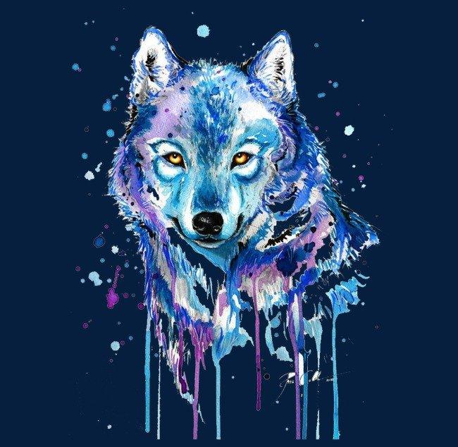 вариант для картинка волк абстракция опасные