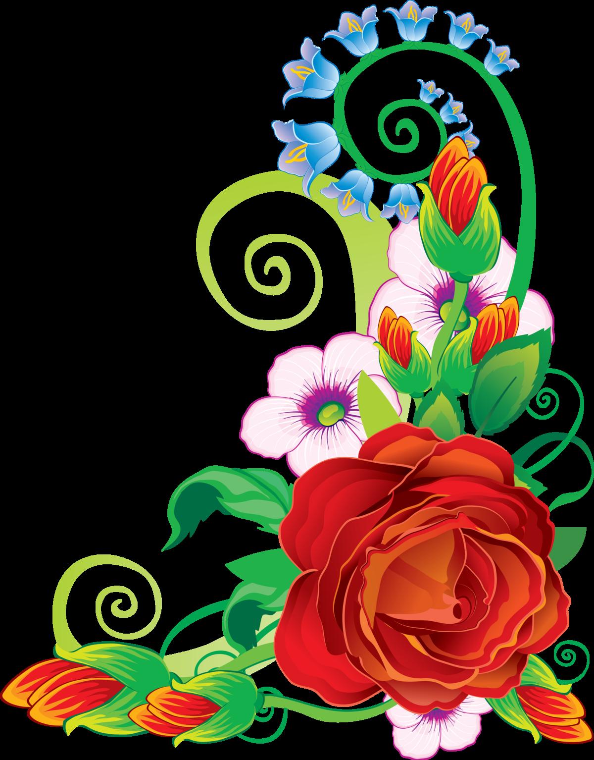 Орнаменты цветочные для открыток