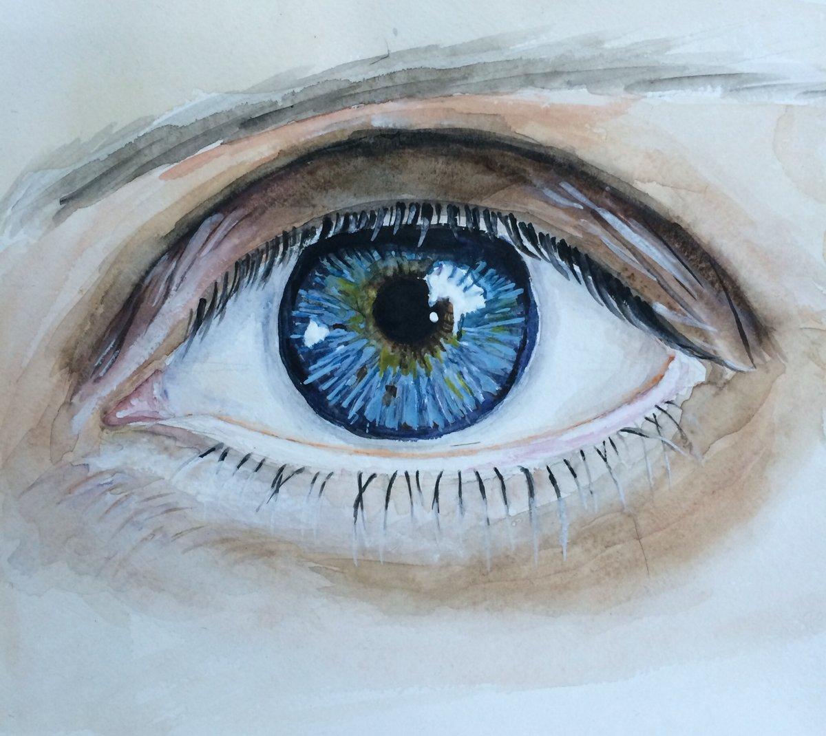 картинка глаза человека рисовать его