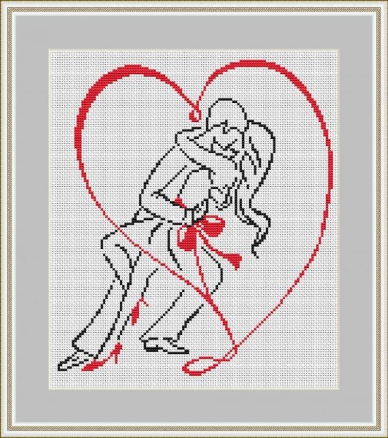 Картинки вышитые крестиком влюбленная парочка, картинки